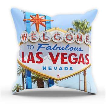 Las Vegas Sign Cushion Cover (H40 x W40cm)