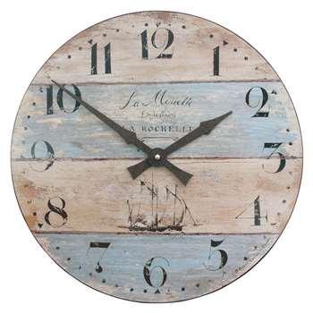 Lascelles Coastal Stripe Wall Clock, Multi (H36 x W36 x D3.5cm)