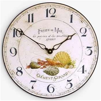 Lascelles Fruits De Mer Wall Clock (Diameter 36cm)