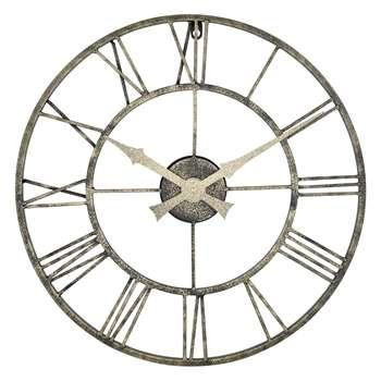 Lascelles Outdoor Clock,  Metallic (H50 x W50 x D3.5cm)