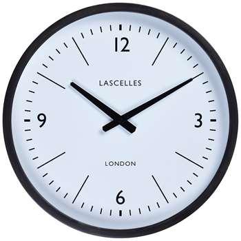 Lascelles Wall Clock, Dia.40cm, Grey, FSC-Certified (Oak) (H41.5 x W41.5 x D8cm)