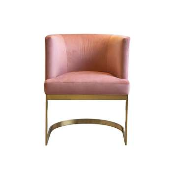 Lasco Dining Chair Blush Pink (H75 x W60 x D60cm)