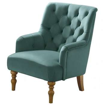 Laterna Armchair - Duck Egg Blue (H90 x W72 x D85cm)