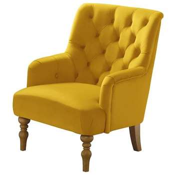 Laterna Armchair - Yellow (H90 x W72 x D85cm)