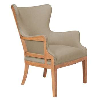 Launceston Linen Armchair - Natural (95 x 67cm)