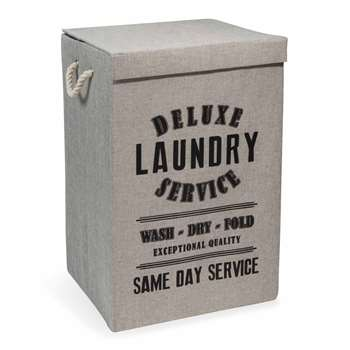 LAUNDRY DELUXE fabric laundry basket
