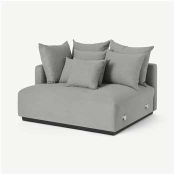 Laurin Left Hand Sofa Unit, Frost Grey Linen (H83 x W132 x D111cm)