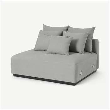 Laurin Middle Sofa Unit, Frost Grey Linen (H83 x W122 x D112cm)