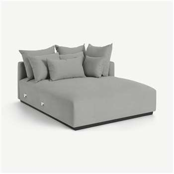 Laurin Right Hand Facing Chaise End Unit, Frost Grey Linen (H83 x W132 x D171cm)