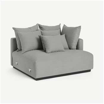 Laurin Right Hand Sofa Unit, Frost Grey Linen (H83 x W132 x D111cm)