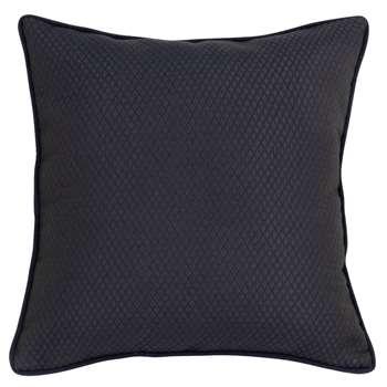 LAVAU - Black Cotton Cushion Cover (H40 x W40cm)