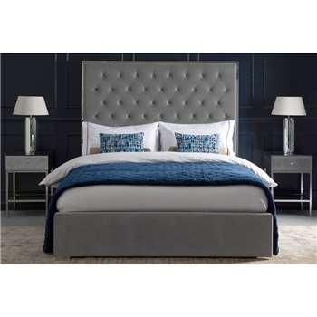 Lavinia Storage Bed - Platinum Grey (H150 x W145 x D197cm)