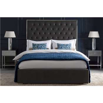 Lavinia Storage Bed - Storm Grey (H150 x W197 x D145cm)