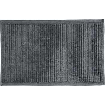 Laza 100% Cotton Bath Mat, Graphite Grey (H50 x W80cm)