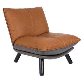 Zuiver Lazy Accent Chair in Vintage Brown