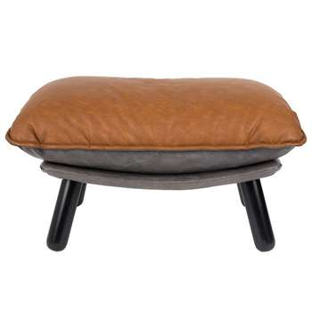 Zuiver Lazy Footstool in Vintage Brown (46 x 78cm)