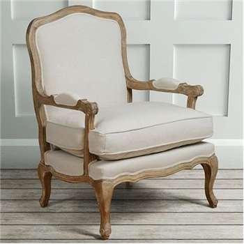 Le Brun - French Oak Oatmeal Occasional Armchair (H96 x W72 x D69.5cm)