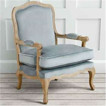 Le Brun - French Oak Silver Occasional Armchair (H96 x W72 x D69.5cm)