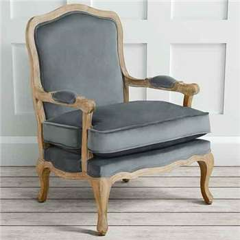 Le Brun - French Oak Smoke Occasional Armchair (H96 x W72 x D69.5cm)