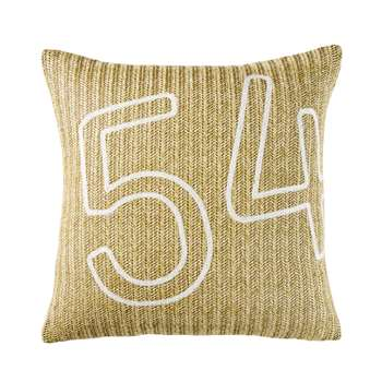 LEGE Woven Outdoor Cushion with White Numbers Print (H45 x W45 x D10cm)