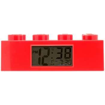 LEGO Brick Alarm Clock, Red (H7 x W19 x D9.5cm)