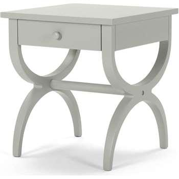 Leila Bedside Table, Grey (45 x 40cm)