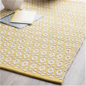 LEIRIA cotton rug, yellow, (60 x 90cm)