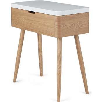 Leliana Dressing Table, Ash and White (H84 x W77 x D36cm)