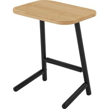 Lena Side Table, Ash and Black (50 x 42cm)