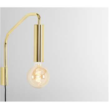 Lennox Overreach Wall Lamp, Brass (H31 x W5 x D29cm)