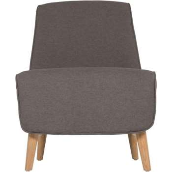 Leo Accent Chair, Marl Grey (78 x 58cm)