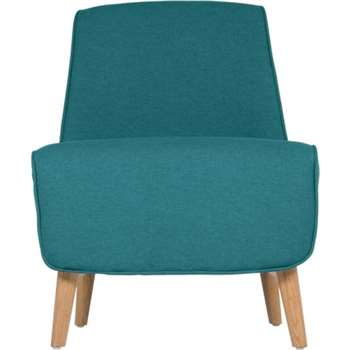 Leo Accent Chair, Mineral Blue (78 x 58cm)