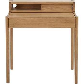 Leonie Compact Desk, Oak (H87 x W79 x D50cm)