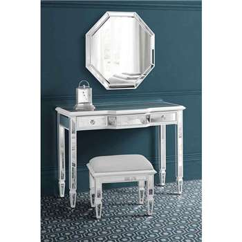 Leonore Dressing Table & Stool & Mirror (80 x 107cm)