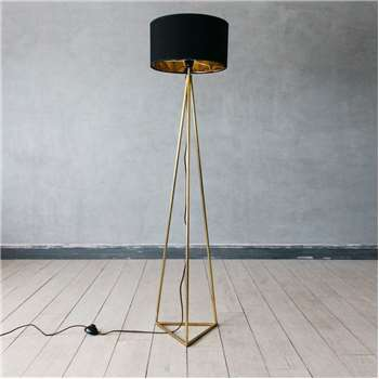 Leopold Brass Floor Lamp (H127 x W23.5 x D23.5cm)
