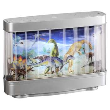 Leuchten Dirket Dino LED Table Lamp Silver (H23 x W31 x D8cm)