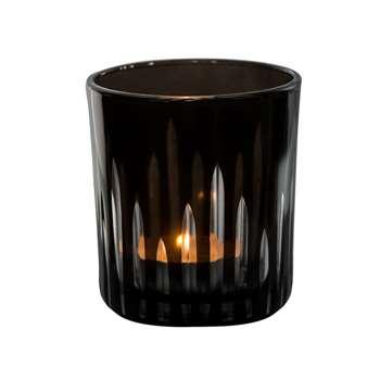 Lexington Black Glass Votive 8 x 7.5cm