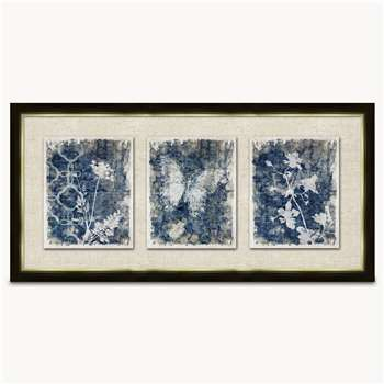 Lexington Set of 2 Framed Botanical Wall Art (H34 x W75cm)