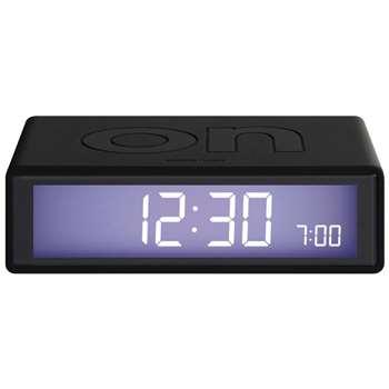 Lexon - Flip Clock - Black (H2.9 x W10.5 x D6.5cm)