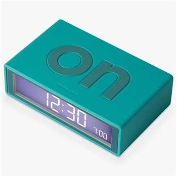 Lexon Flip Alarm Clock, Blue
