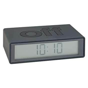 Lexon Flip Alarm Clock, Grey