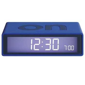Lexon - Flip Alarm Clock, Blue (H3 x W10.5 x D6.5cm)