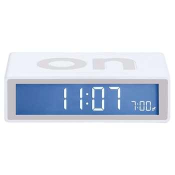 Lexon Flip Alarm Clock, White