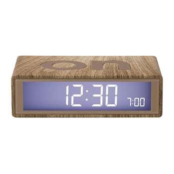 Lexon - Flip Clock - Light Wood (H2.9 x W10.5 x D6.5cm)