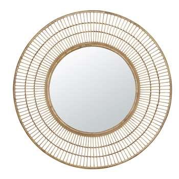 LIBERIA - Round Bamboo Mirror (Diameter 100cm)