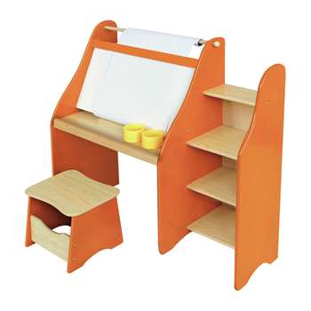 Liberty House Artist's Drawing Desk and Stool, Orange (90 x 72cm)