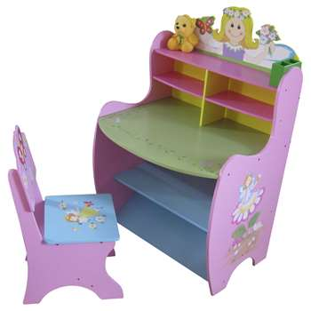 Liberty House Fairy Art Desk and Chair (H105 x W62 x D52.5cm)