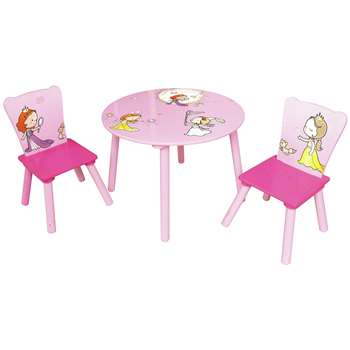 Liberty House Princess Round Table and Chairs Set (H50 x W26.8 x D26.8cm)