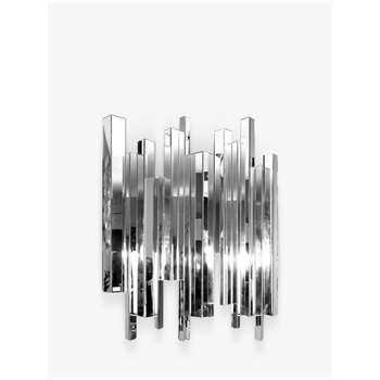 Libra Crystalline Effect Mirror, Silver (H120 x W150 x D8cm)