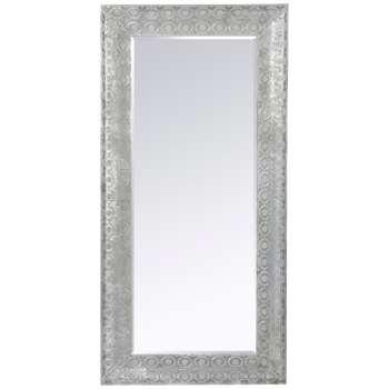 Libra Filigree Large Leaner Mirror, Dark Grey (165 x 80cm)